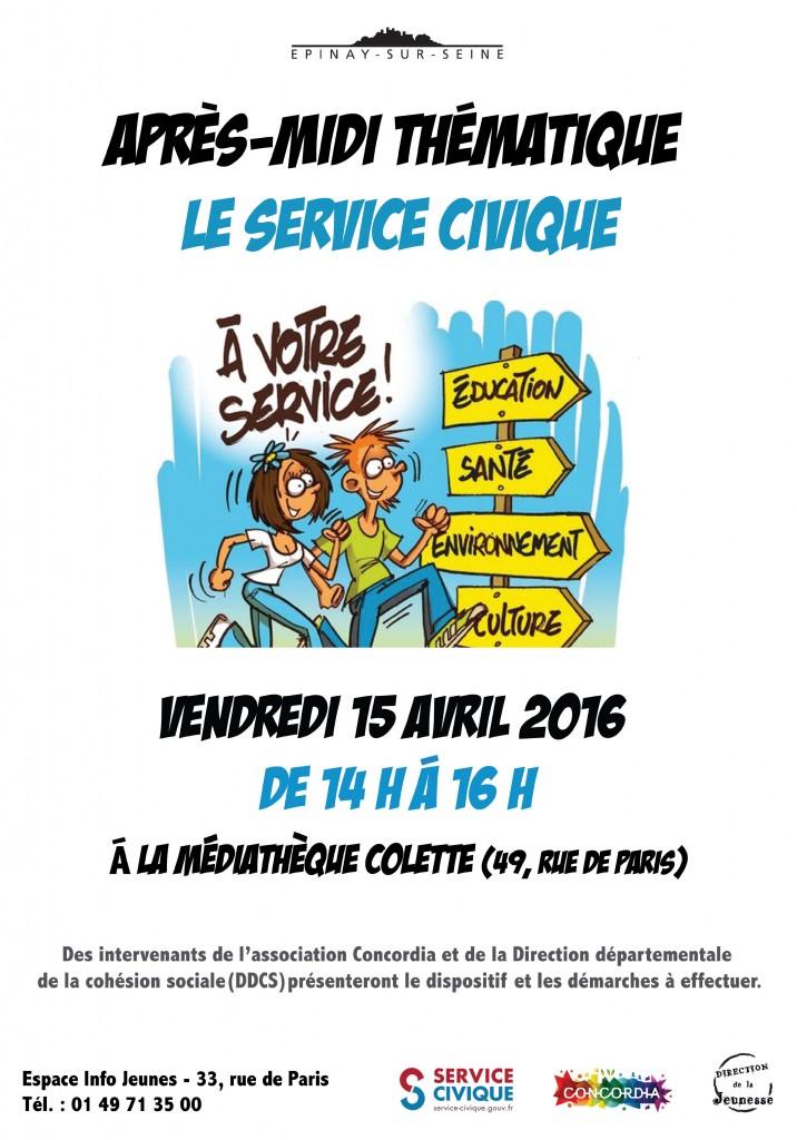Affiche - service civique 2016